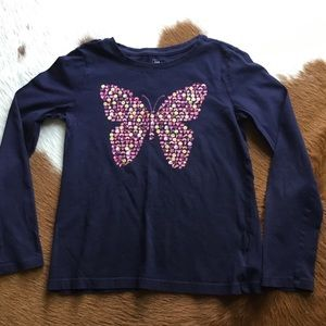 GAP Girls Long Sleeve T-Shirt, Size 10